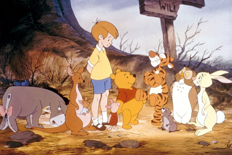 NEW ADVENTURES OF WINNIE THE POOH, Eeyore, Kanga, Roo, Christopher Robin, Piglet, Winnie the Pooh, T